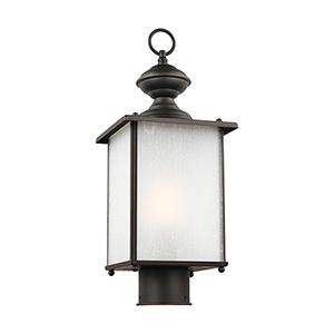 Jamestowne Antique Bronze Seven-Inch One-Light Outdoor Post Lantern