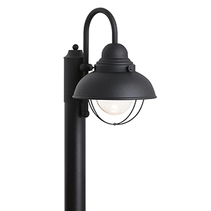 Sebring Black 11-Inch LED Outdoor Post Lantern