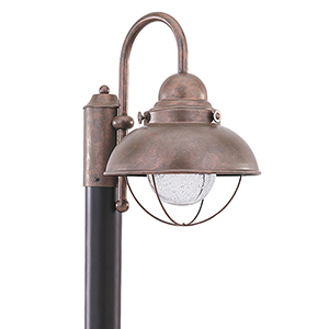 Sebring Weathered Copper 11-Inch LED Outdoor Post Lantern