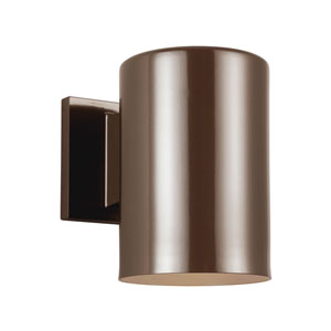 Outdoor Cylinders Bronze Energy Star Seven-Inch LED Outdoor Wall Lantern