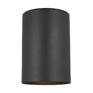 Cylinders Black Five-Inch One-Light Outdoor Wall Sconce Energy Star
