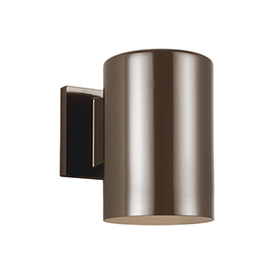 Outdoor Cylinders Bronze Seven-Inch LED Outdoor Wall Sconce