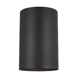 Cylinders Black One-Light Outdoor Large Wall Sconce