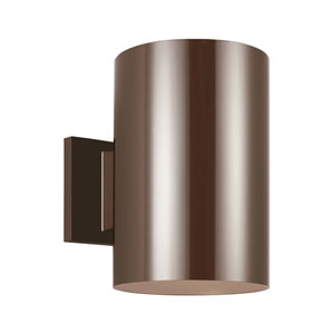 Outdoor Cylinders Bronze Energy Star Nine-Inch LED Outdoor Wall Lantern