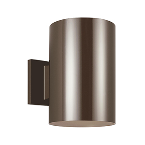 Outdoor Cylinders Bronze Nine-Inch LED Outdoor Wall Sconce