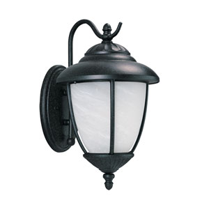 Yorktown Forged Iron Energy Star 10-Inch LED Outdoor Wall Lantern