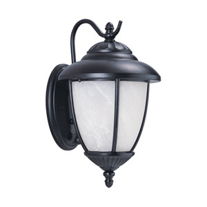 Yorktown Black Energy Star Dusk to Dawn 10-Inch LED Outdoor Wall Lantern