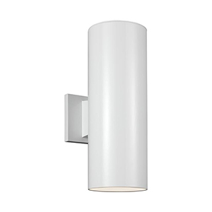 Outdoor Cylinders White 14-Inch LED Outdoor Wall Sconce
