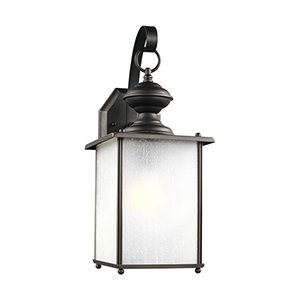 Jamestowne Antique Bronze Energy Star 17-Inch One-Light Outdoor Wall Sconce