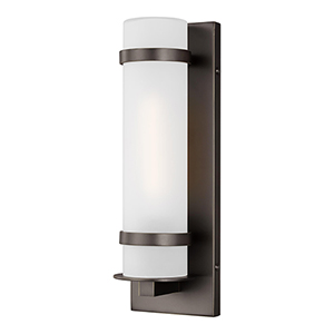 Alban Antique Bronze Four-Inch One-Light Energy Star Outdoor Wall Lantern