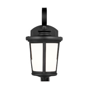 Eddington Black One-Light Outdoor Wall Sconce with Cased Opal Etched Shade