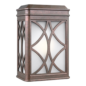 Melito Weathered Copper Energy Star Six-Inch One-Light Outdoor Wall Sconce