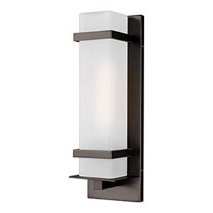 Alban Antique Bronze One-Light Outdoor Wall Lantern