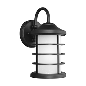 Sauganash Black Six-Inch One-Light Outdoor Wall Sconce