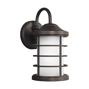 Sauganash Antique Bronze Six-Inch One-Light Outdoor Wall Sconce