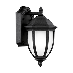 Galvyn Black Seven-Inch One-Light Outdoor Wall Sconce