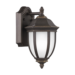 Galvyn Antique Bronze Seven-Inch One-Light Outdoor Wall Sconce