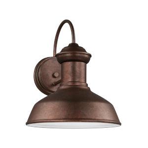 Fredricksburg Weathered Copper Small LED Outdoor Turtle Friendly Wall Lantern