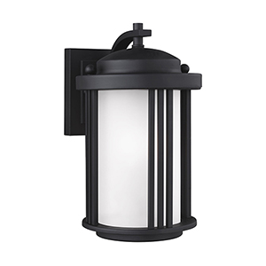 Crowell Black Six-Inch One-Light Outdoor Wall Sconce