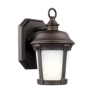 Calder Antique Bronze Energy Star Six-Inch One-Light Outdoor Wall Sconce