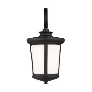 Eddington Black One-Light Outdoor Medium Wall Sconce with Cased Opal Etched Shade