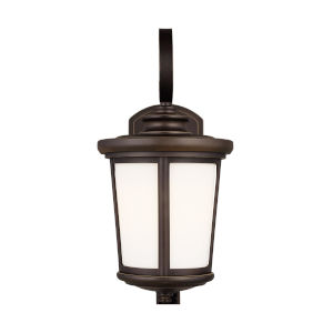 Eddington Antique Bronze One-Light Outdoor Medium Wall Sconce with Cased Opal Etched Shade