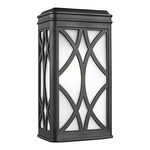 Melito Black Seven-Inch One-Light Outdoor Wall Sconce