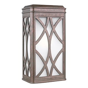 Melito Weathered Copper Energy Star Seven-Inch One-Light Outdoor Wall Sconce