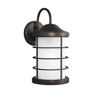Sauganash Antique Bronze Nine-Inch One-Light Outdoor Wall Sconce