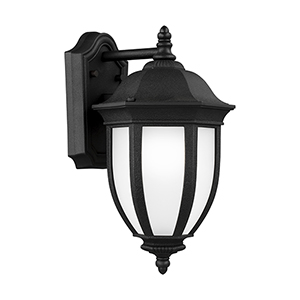 Galvyn Black Eight-Inch One-Light Outdoor Wall Sconce