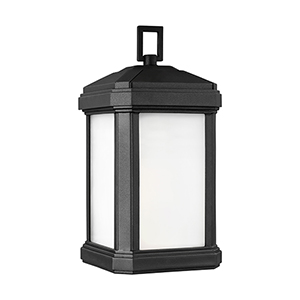 Gaelan Black Energy Star Seven-Inch One-Light Outdoor Wall Sconce