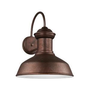 Fredricksburg Weathered Copper Large LED Outdoor Turtle Friendly Wall Lantern