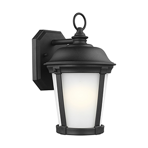 Calder Black Energy Star Eight-Inch One-Light Outdoor Wall Sconce
