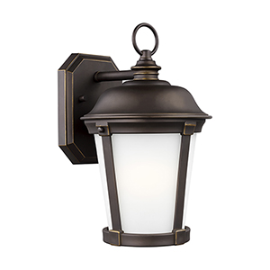 Calder Antique Bronze Energy Star Eight-Inch One-Light Outdoor Wall Sconce
