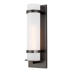 Alban Antique Bronze Eight-Inch One-Light Outdoor Wall Lantern
