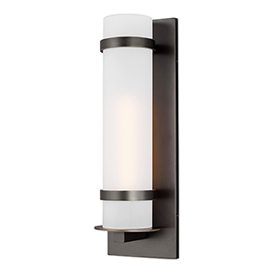 Alban Antique Bronze Eight-Inch One-Light Energy Star Outdoor Wall Lantern
