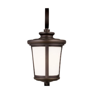 Eddington Antique Bronze 10-Inch One-Light Outdoor Wall Sconce with Cased Opal Etched Shade