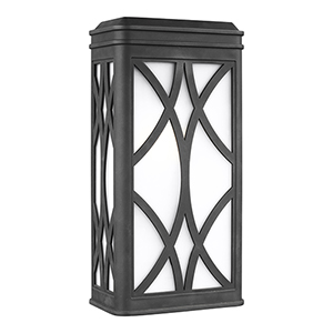 Melito Black Nine-Inch One-Light Outdoor Wall Sconce
