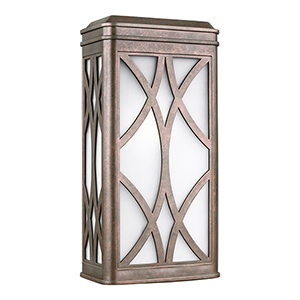 Melito Weathered Copper Energy Star Nine-Inch One-Light Outdoor Wall Sconce