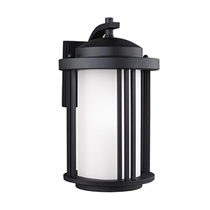 Crowell Black Nine-Inch One-Light Outdoor Wall Sconce