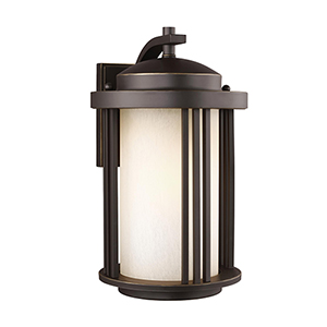 Crowell Antique Bronze Nine-Inch One-Light Outdoor Wall Sconce