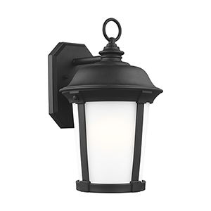 Calder Black Energy Star 10-Inch One-Light Outdoor Wall Sconce