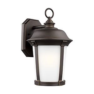 Calder Antique Bronze Energy Star 10-Inch One-Light Outdoor Wall Sconce