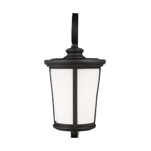 Eddington Black One-Light Outdoor Extra-Large Wall Sconce with Cased Opal Etched Shade