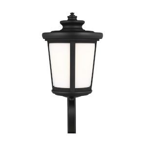 Eddington Black One-Light Outdoor Uplight Wall Sconce with Cased Opal Etched Shade