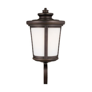 Eddington Antique Bronze One-Light Outdoor Uplight Wall Sconce with Cased Opal Etched Shade