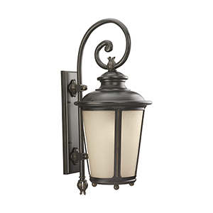 Cape May Burled Iron 13-Inch LED Outdoor Wall Sconce