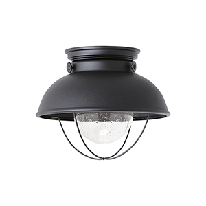 Sebring Black 11-Inch LED Outdoor Flush Mount