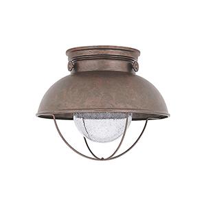 Sebring Weathered Copper 11-Inch LED Outdoor Flush Mount