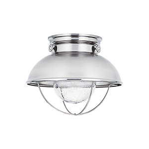 Sebring Brushed Stainless 11-Inch LED Outdoor Flush Mount